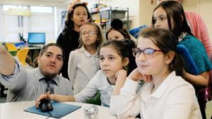 Students in the STEM Lab at Manhattan Day School
