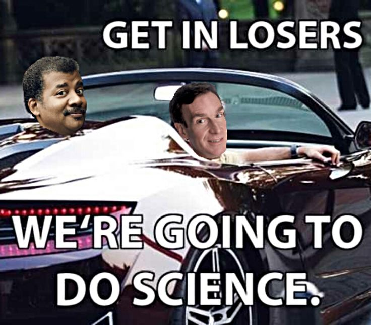 Bill and Neil looking cool, doing science