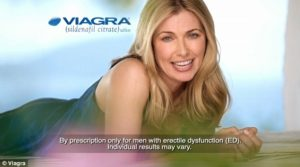 A spokeswoman on a Viagra commercil