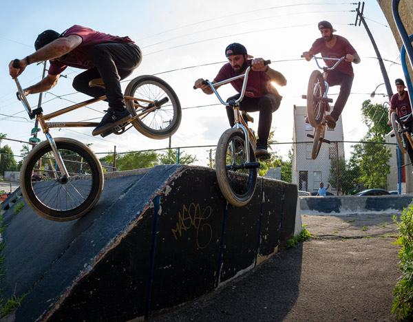 BMX Biker doing a trick