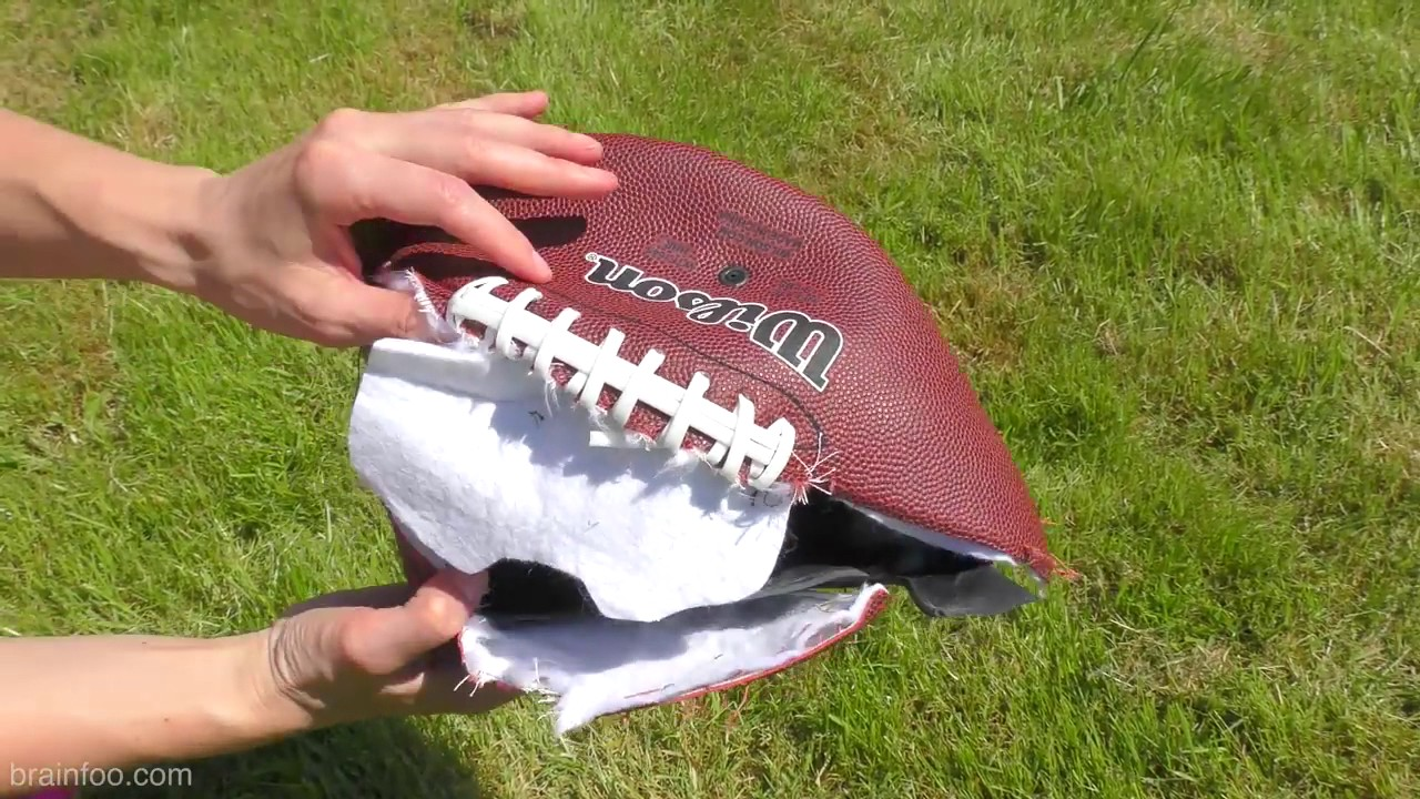 A Football that blew up or ripped in half