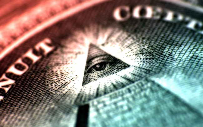 The Eye at the top of the pyramid on the dollar.