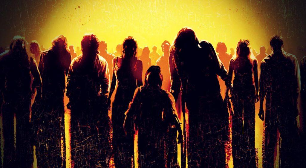 zombies walking towards the screen